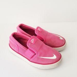 Other - Girls Nike Size 10c NIKE TOKI SLIP ON 719746 PINK